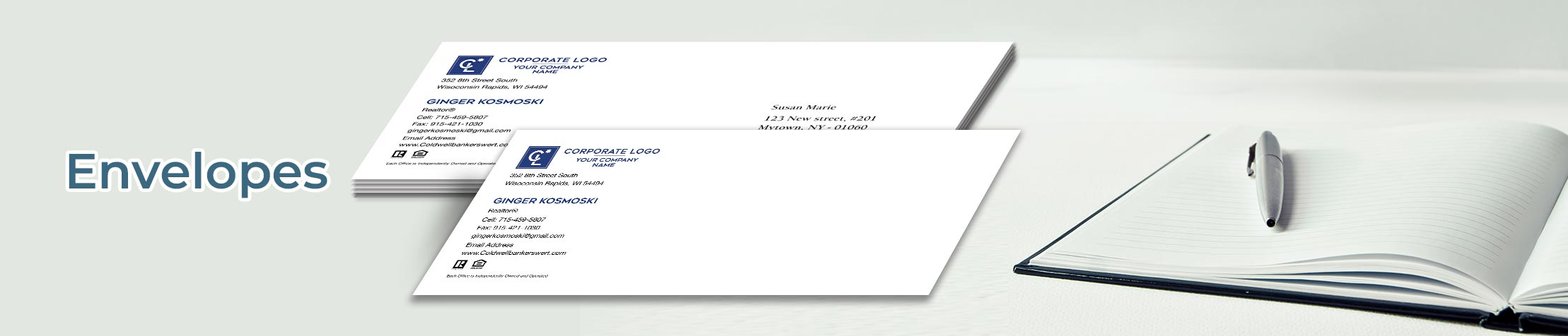 Coldwell Banker Real Estate #10 Envelopes - Coldwell Banker - Custom Stationery Templates for Coldwell Banker Offices and Real Estate Agents | BestPrintBuy.com