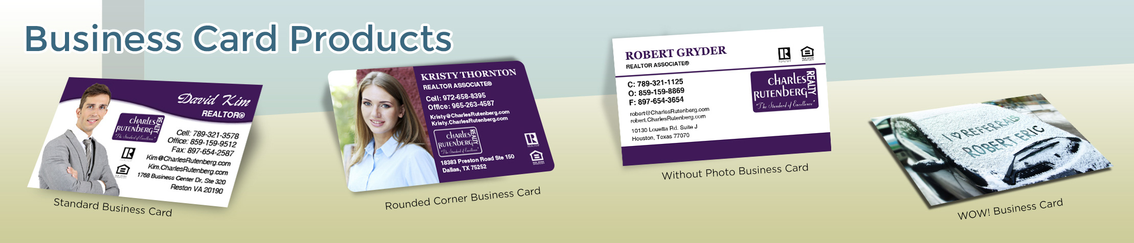 Charles Rutenberg Realty Real Estate Business Card Products - Charles Rutenberg Realty  - Unique, Custom Business Cards Printed on Quality Stock with Creative Designs for Realtors | BestPrintBuy.com