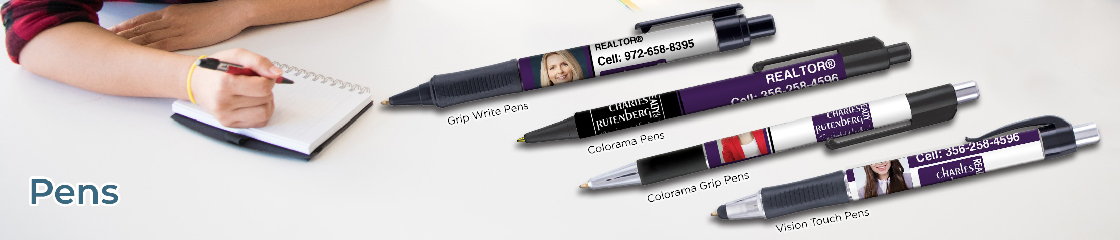 Charles Rutenberg Realty Real Estate Personalized Pens - Charles Rutenberg Realty promotional products: Grip Write Pens, Colorama Pens, Vision Touch Pens, and Colorama Grip Pens | BestPrintBuy.com