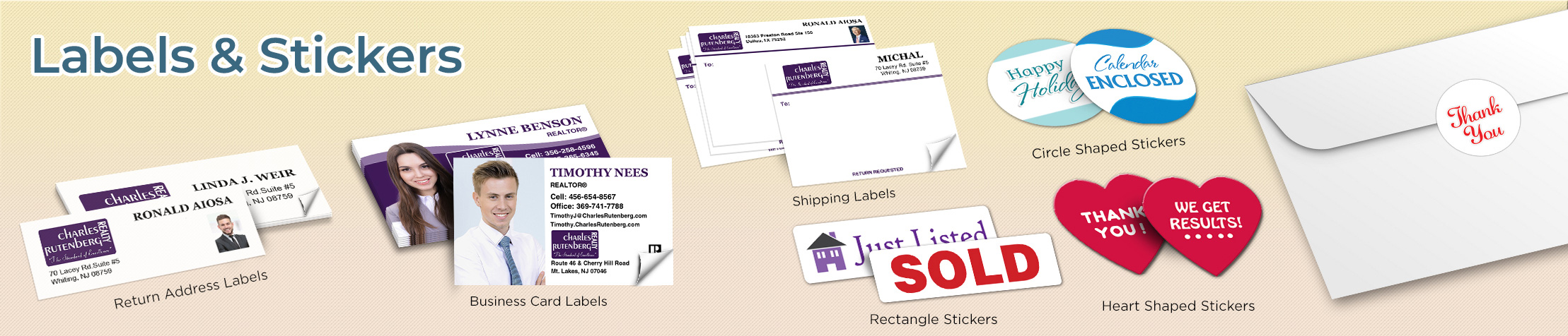 Charles Rutenberg Realty Real Estate Labels and Stickers - Charles Rutenberg Realty  business card labels, return address labels, shipping labels, and assorted stickers | BestPrintBuy.com