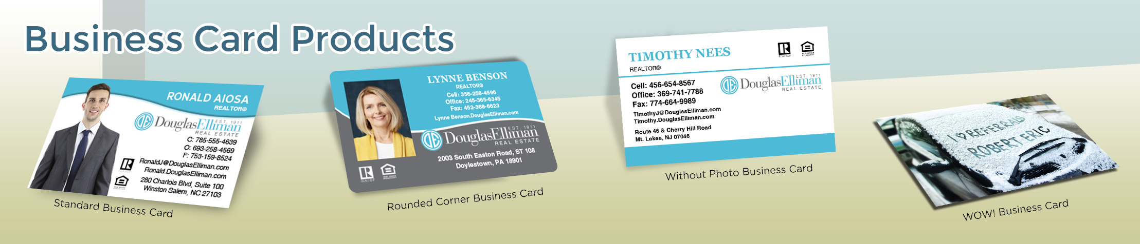 Douglas Elliman Real Estate Business Card Products - Douglas Elliman  - Unique, Custom Business Cards Printed on Quality Stock with Creative Designs for Realtors | BestPrintBuy.com