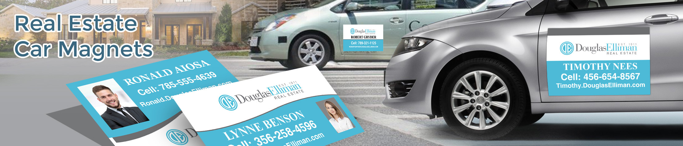 Douglas Elliman Real Estate Car Magnets - Douglas Elliman Real Estate custom car magnets for realtors, with or without photo | BestPrintBuy.com