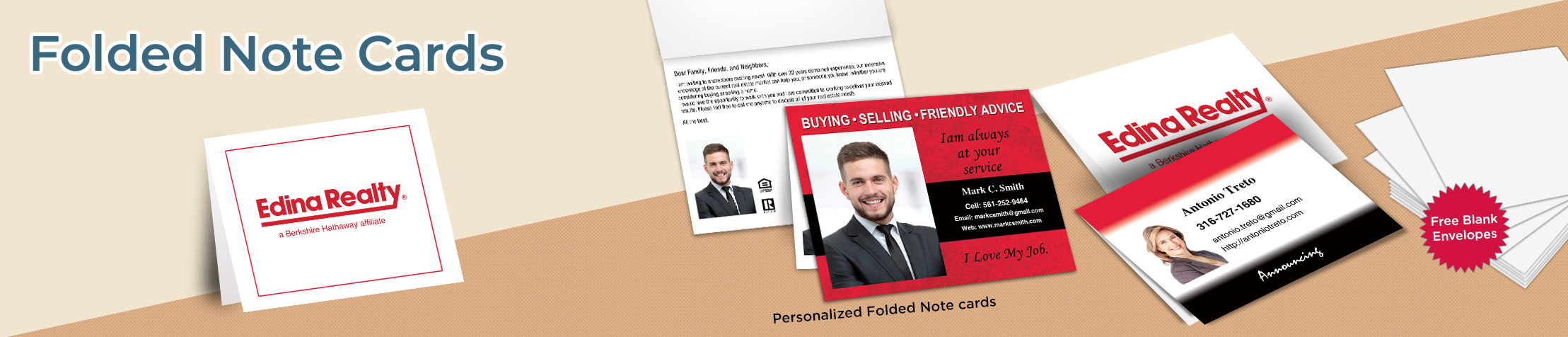 Edina Realty Folded Note Cards - Edina Realty stationery | BestPrintBuy.com