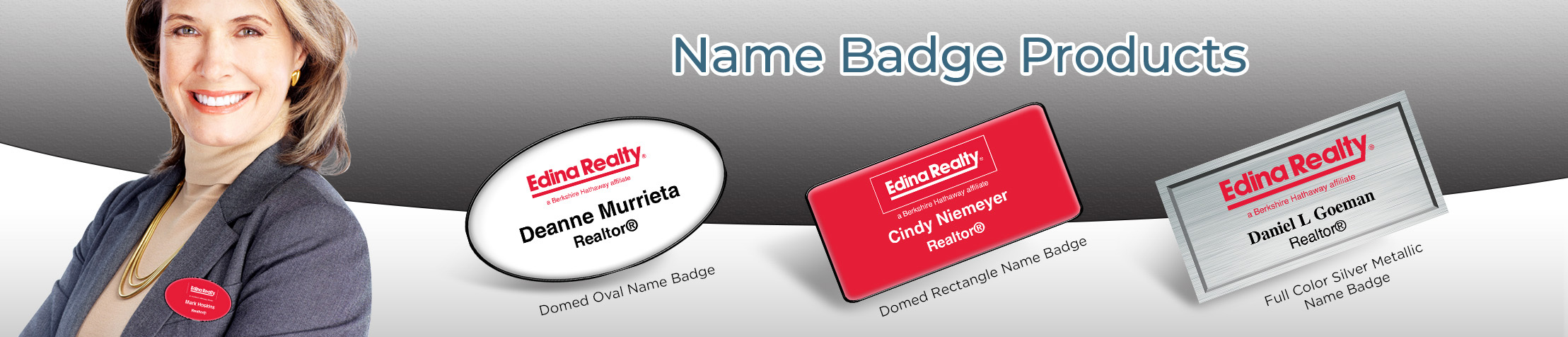 Edina Realty  Name Badge Products - Edina Realty Name Tags for Realtors | BestPrintBuy.com