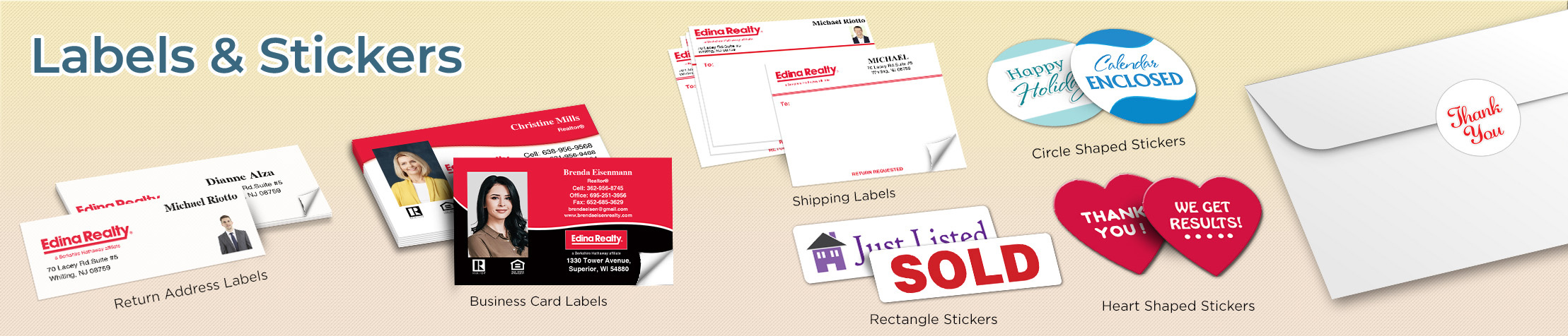 Edina Realty  Labels and Stickers - Edina Realty  business card labels, return address labels, shipping labels, and assorted stickers | BestPrintBuy.com