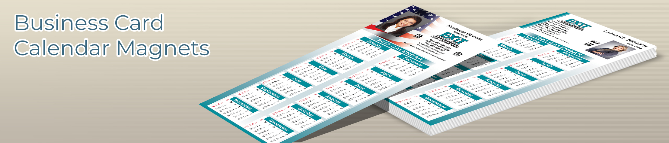 Exit Realty Business Card Calendar Magnets - Exit Realty approved vendor 2019 calendars with photo and contact info | BestPrintBuy.com