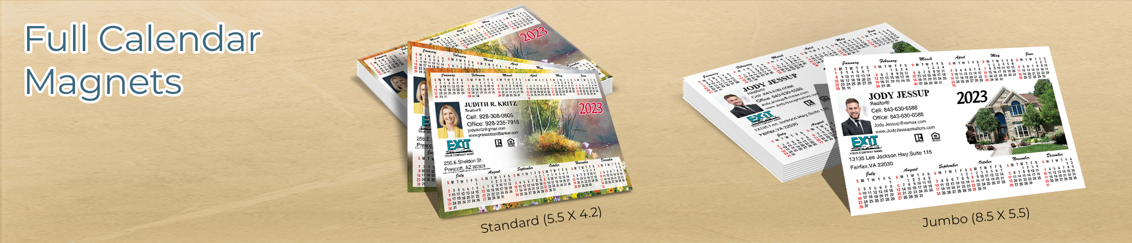 Exit Realty Full Calendar Magnets - Exit Realty approved vendor 2019 calendars in Standard or Jumbo Size | BestPrintBuy.com