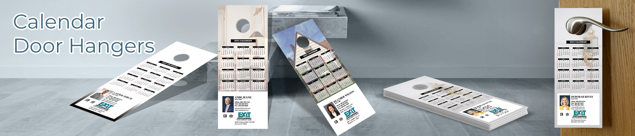 Exit Realty  Calendar Door Hangers - Exit Realty approved vendor 2019 calendars printed on door knockers | BestPrintBuy.com