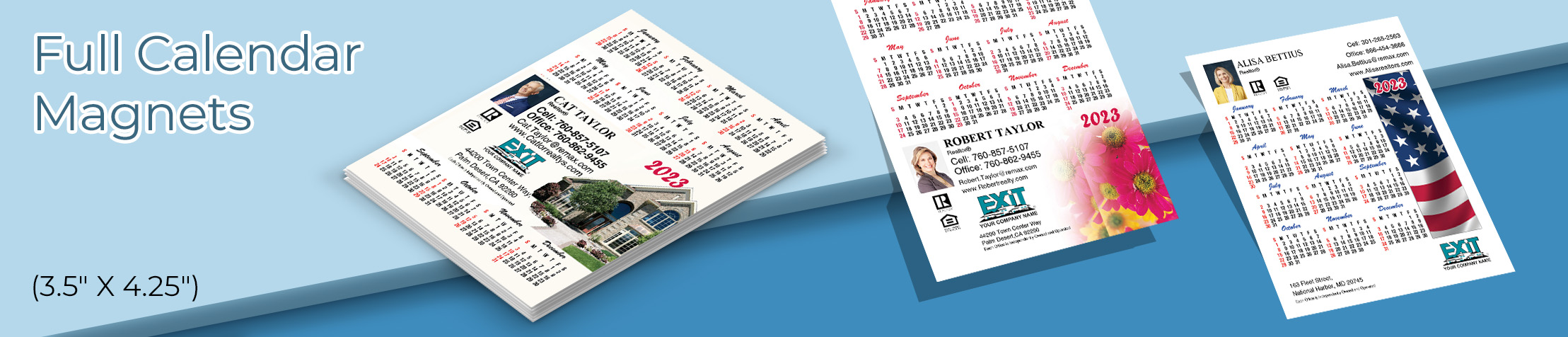 "Exit Realty Full Calendar Magnets - Exit Realty approved vendor 2019 calendars, 3.5"" by 4.25"" 