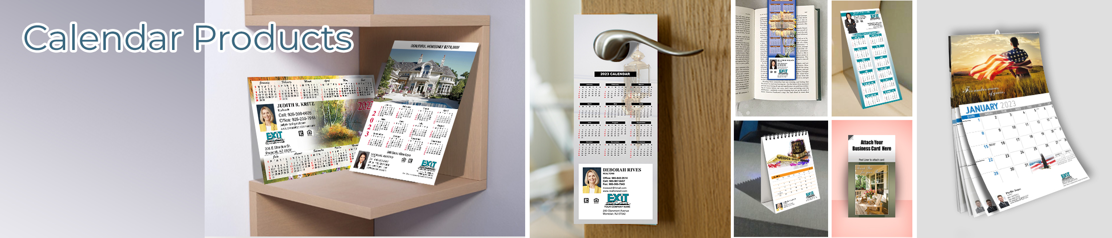 Exit Realty Calendar Products - Exit Realty approved vendor 2019 calendars, magnets, door hangers, bookmarks, tear away note pads | BestPrintBuy.com