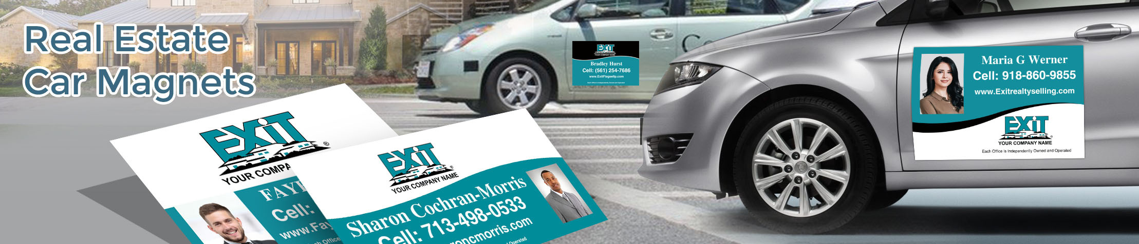 Exit Realty  Car Magnets - Exit approved vendor custom car magnets for realtors, with or without photo | BestPrintBuy.com