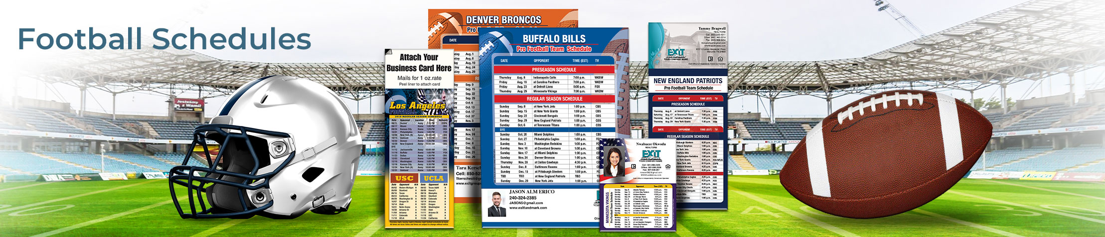 Exit Realty Football Schedules - Exit Realty approved vendor personalized football schedules | BestPrintBuy.com