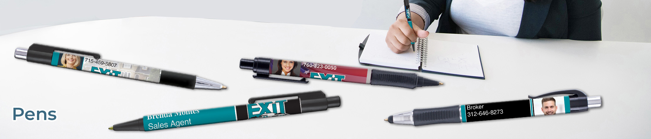 Exit Realty Real Estate Pens - Exit Realty approved vendor personalized realtor promotional products | BestPrintBuy.com