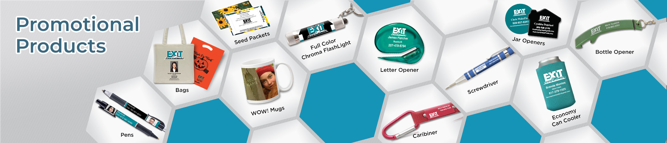 Exit Realty Real Estate Promotional Products - Exit Realty approved vendor personalized promotional pens, key chains, tote bags, flashlights, mugs | BestPrintBuy.com
