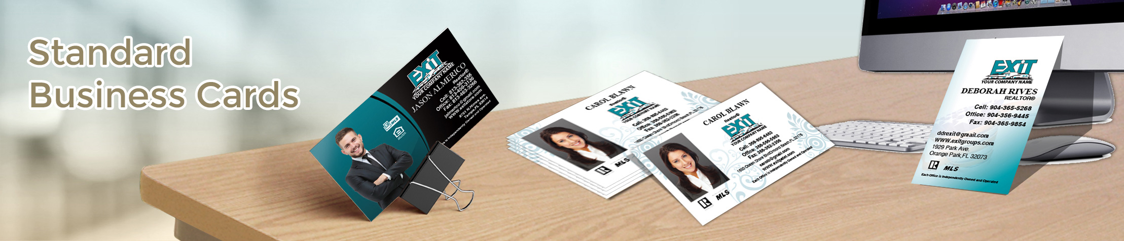 Exit Realty Standard Business Cards - Exit Realty Approved Vendor marketing materials | BestPrintBuy.com