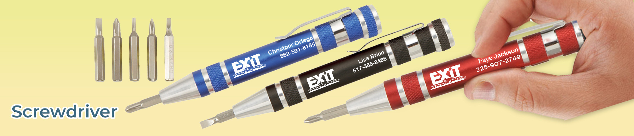 Exit Realty Real Estate Flashlights - Exit Realty approved vendor personalized realtor promotional products | BestPrintBuy.com