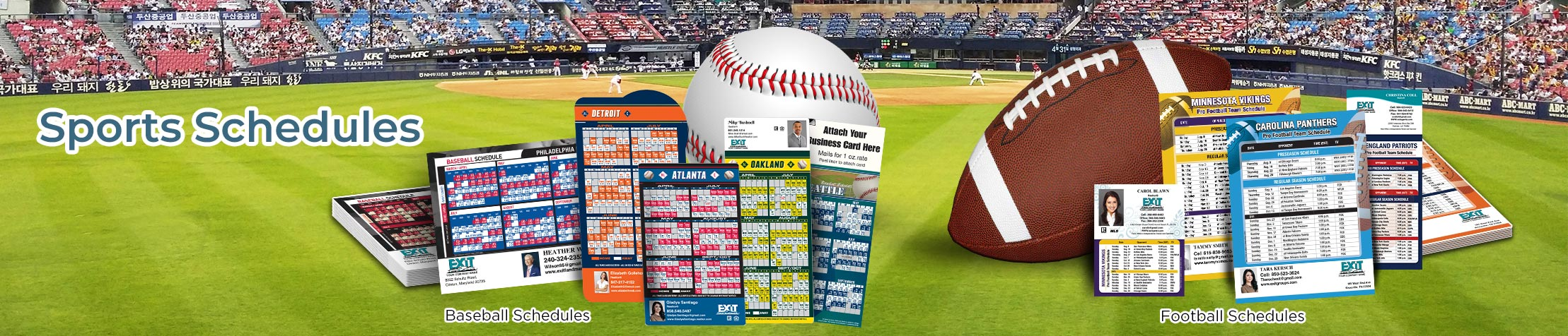 Exit Realty Real Estate Sports Schedules - Exit Realty approved vendor custom sports schedule magnets | BestPrintBuy.com