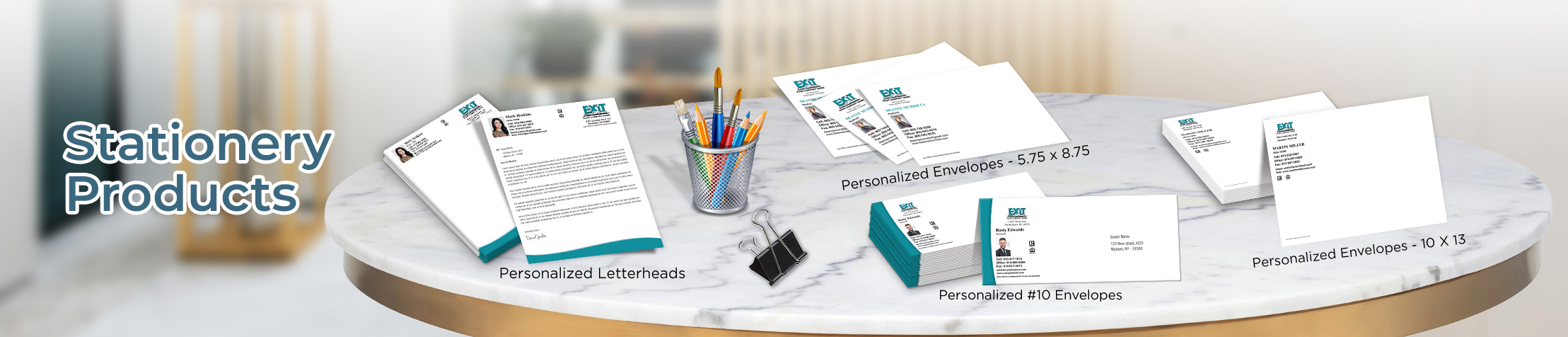 Exit Realty Real Estate Stationery Products - Keller Williams Approved Vendor - Custom Letterhead & Envelopes Stationery Products for Realtors | BestPrintBuy.com
