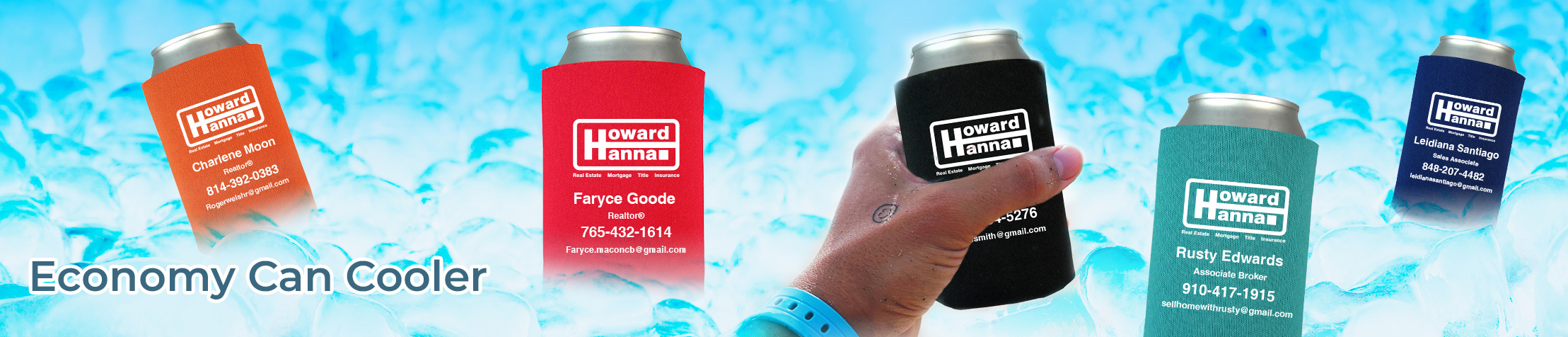 Howard Hanna Real Estate Economy Can Cooler - Howard Hanna  personalized realtor promotional products | BestPrintBuy.com