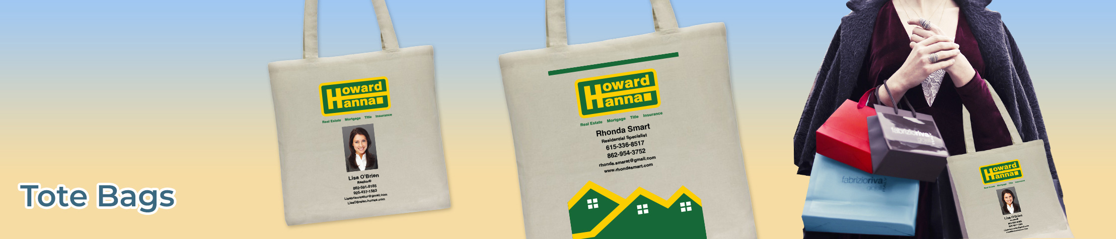 Howard Hanna Real Estate Tote Bags - Howard Hanna  personalized realtor promotional products | BestPrintBuy.com