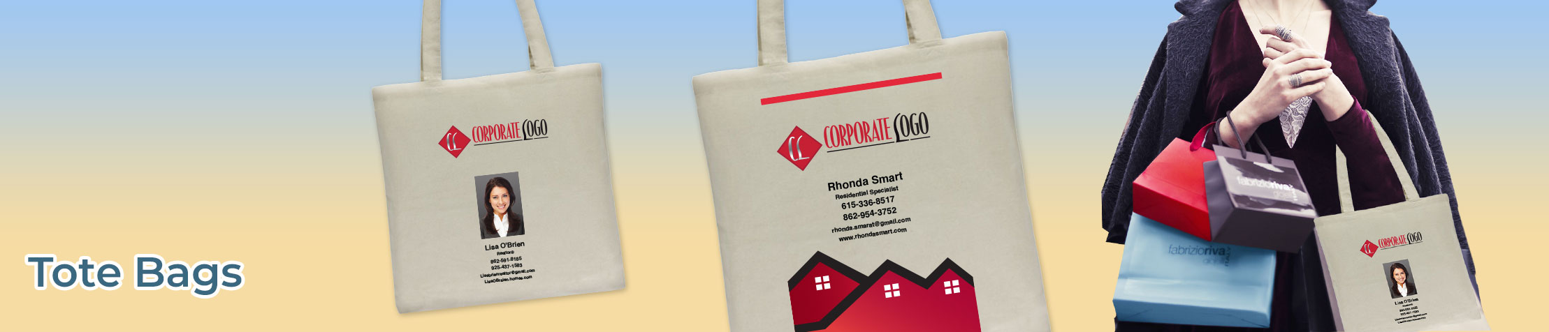 HomeSmart Real Estate Tote Bags - HomeSmart Real Estate  personalized realtor promotional products | BestPrintBuy.com