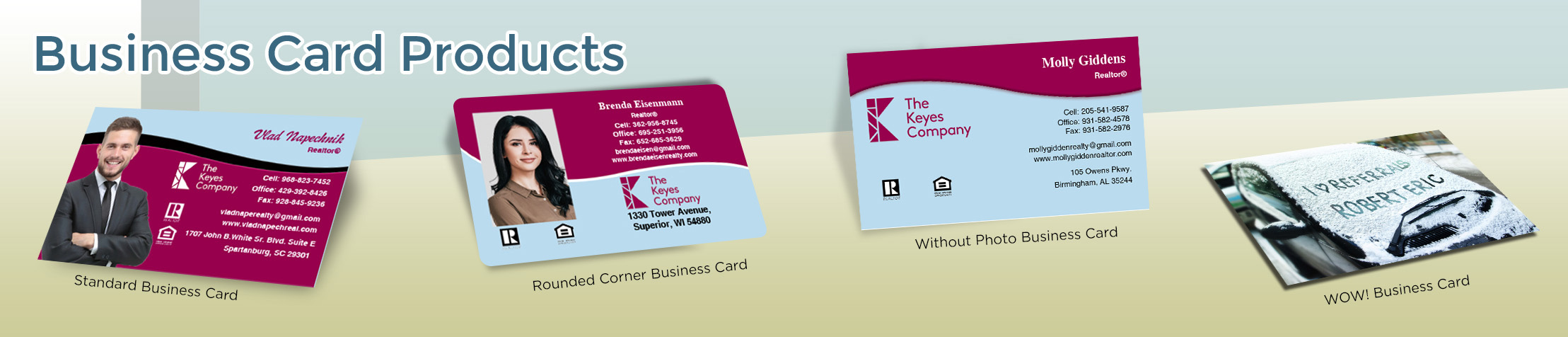 The Keyes Company Real Estate Business Card Products - The Keyes Company  - Unique, Custom Business Cards Printed on Quality Stock with Creative Designs for Realtors | BestPrintBuy.com