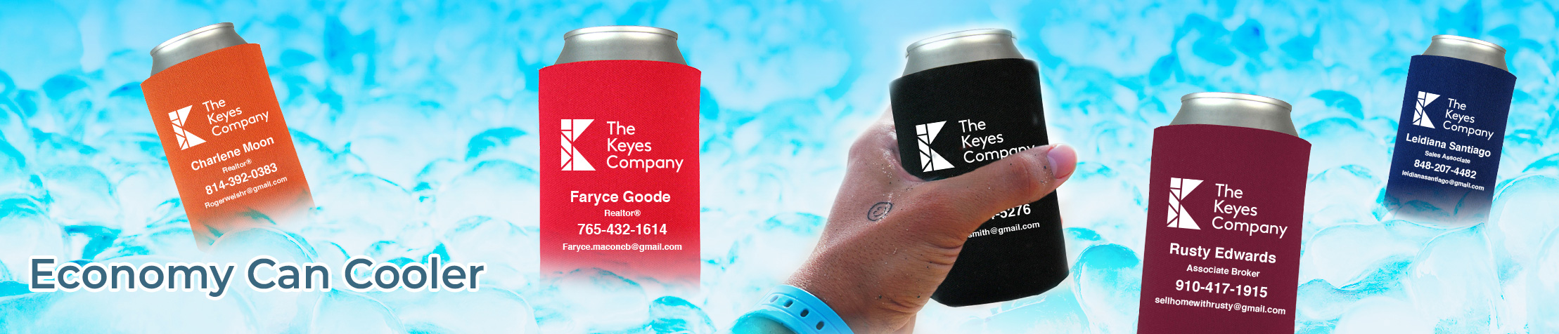 The Keyes Company Real Estate Economy Can Cooler - The Keyes Company  personalized realtor promotional products | BestPrintBuy.com