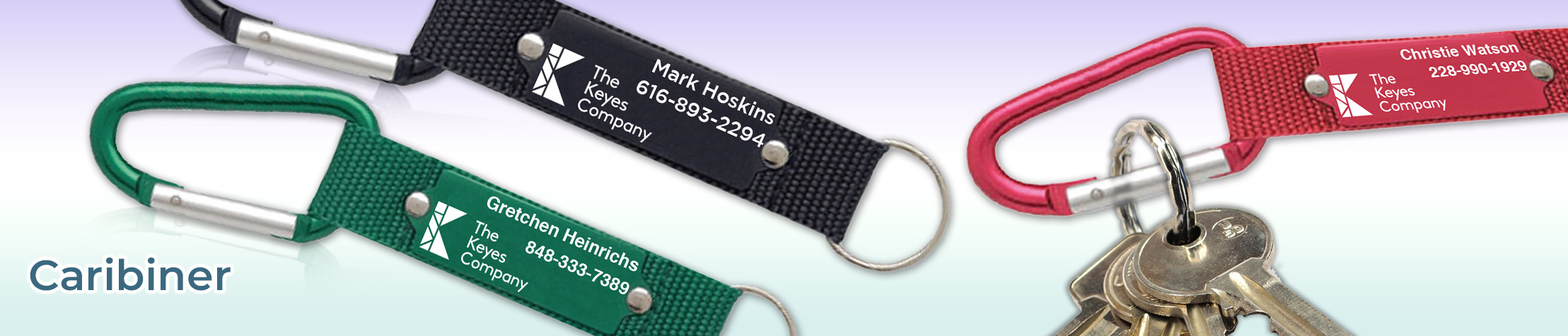 The Keyes Company Real Estate Carabiner - The Keyes Company  personalized realtor promotional products | BestPrintBuy.com