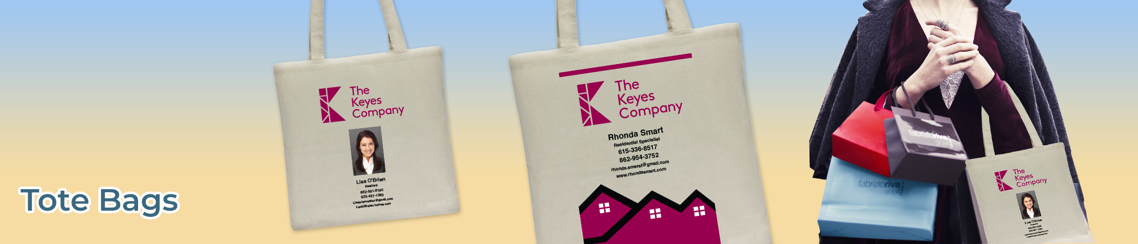 The Keyes Company Real Estate Tote Bags - The Keyes Company  personalized realtor promotional products | BestPrintBuy.com