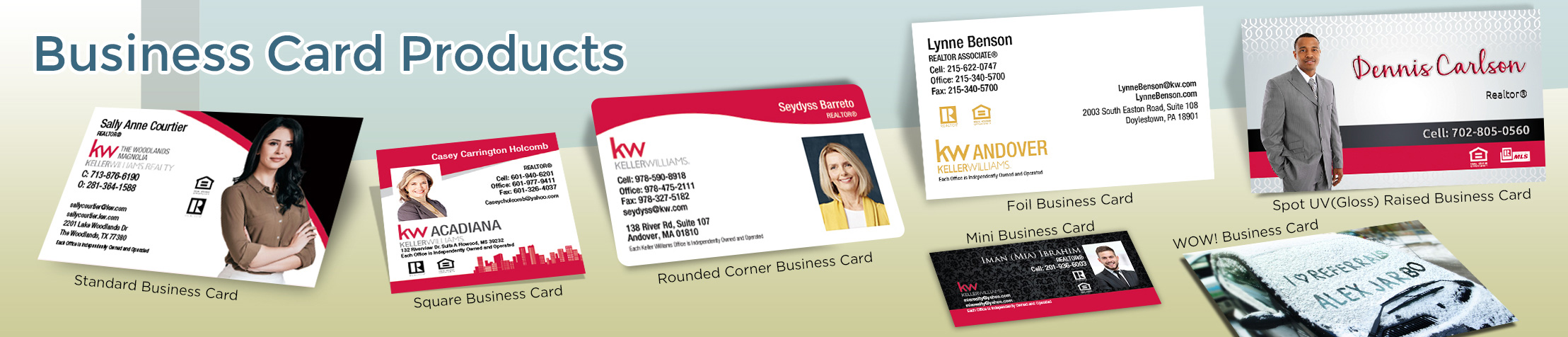 Keller Williams Real Estate Business Card Products - KW Approved Vendor - Unique, Custom Business Cards Printed on Quality Stock with Creative Designs for Realtors | BestPrintBuy.com