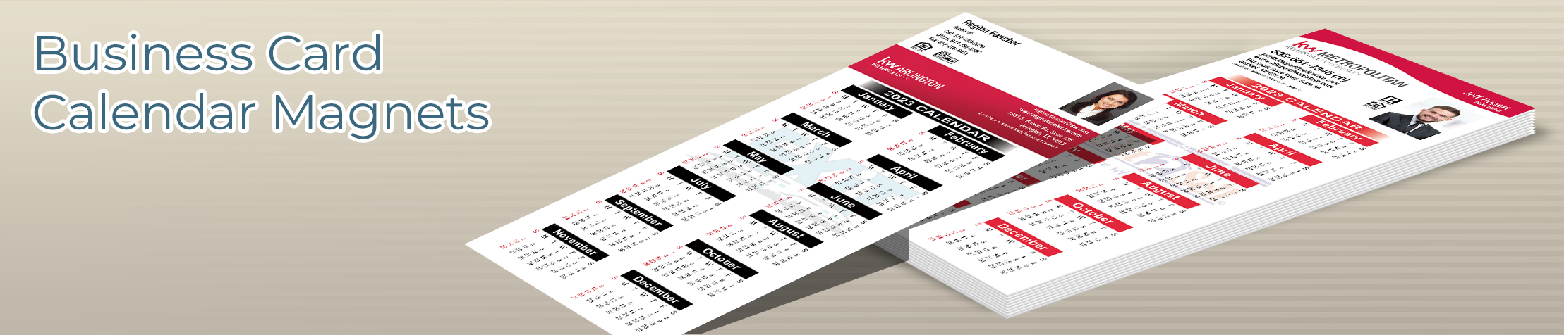 Keller Williams Real Estate Business Card Calendar Magnets - KW approved vendor 2019 calendars with photo and contact info | BestPrintBuy.com