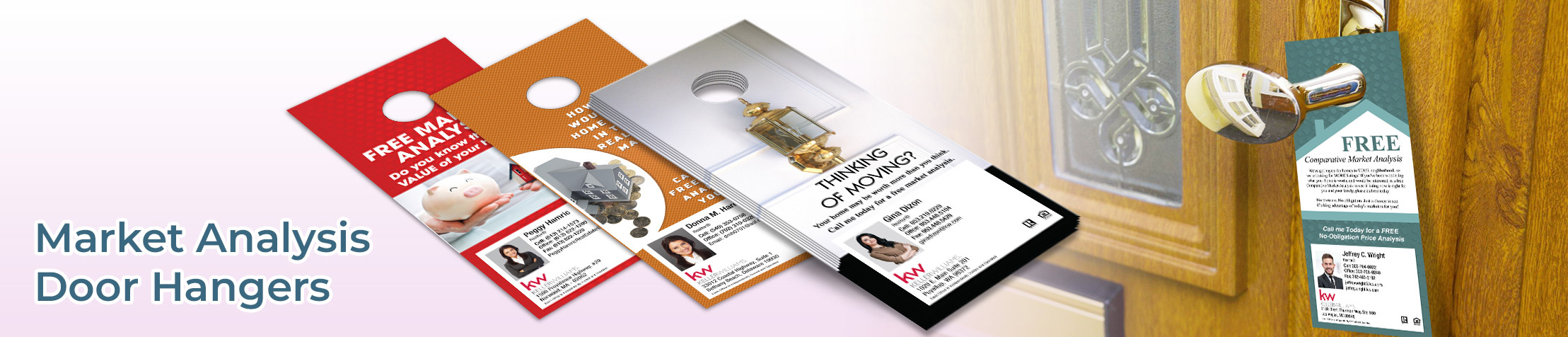 Keller Williams Market Analysis Door Hangers - KW Approved Vendor Gloss Door Knockers for Realtors | BestPrintBuy.com