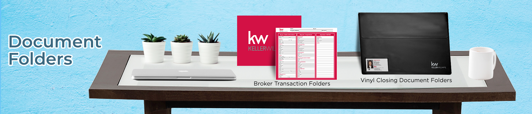 Keller Williams Real Estate Document Folders - KW approved vendor document folders | BestPrintBuy.com