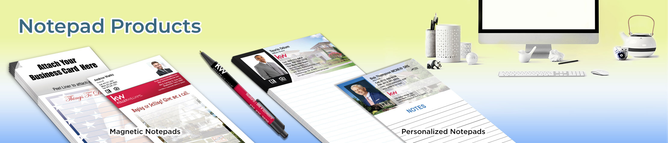Keller Williams Real Estate Notepads - KW approved vendor custom stationery and marketing tools, magnetic and personalized notepads | BestPrintBuy.com