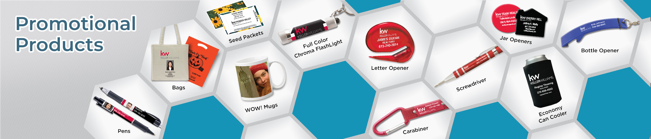 Keller Williams Real Estate Promotional Products - KW approved vendor personalized promotional pens, key chains, tote bags, flashlights, mugs | BestPrintBuy.com
