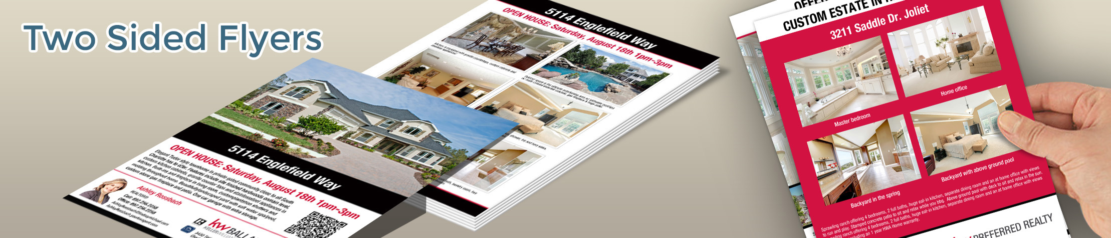 Keller Williams Real Estate Flyers and Brochures - KW approved vendor two-sided flyer templates for open houses and marketing | BestPrintBuy.com