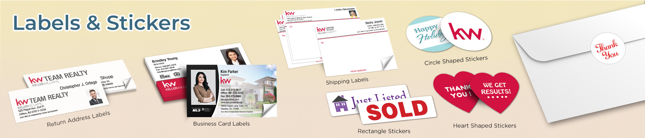 Keller Williams Real Estate Labels and Stickers - KW approved vendor business card labels, return address labels, shipping labels, and assorted stickers | BestPrintBuy.com