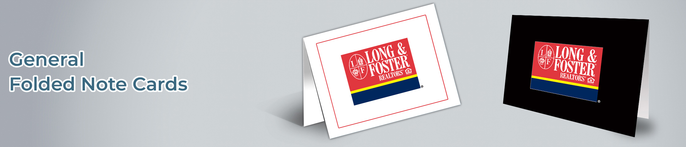 Long and Foster Real Estate Customizable Folded Note Cards - Long and Foster note card stationery | BestPrintBuy.com