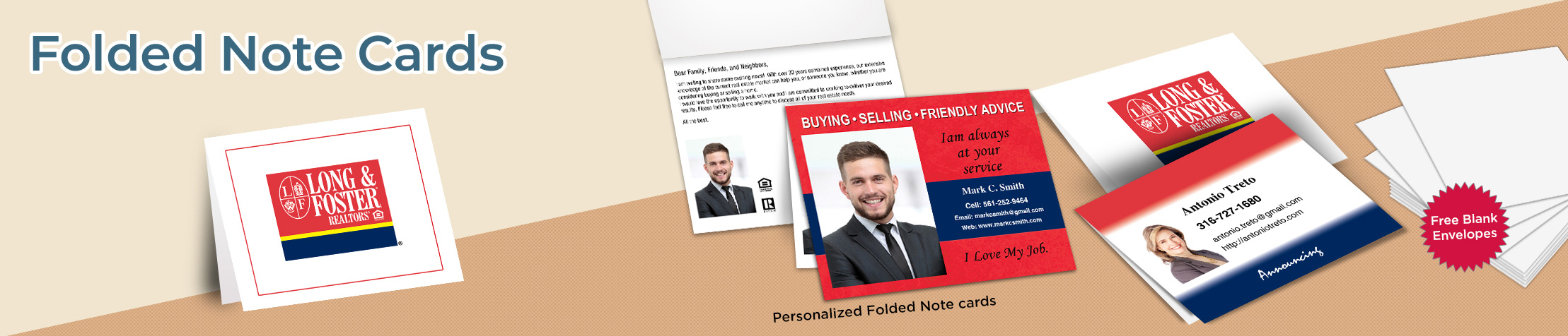 Long and Foster Real Estate Folded Note Cards - Long and Foster stationery | BestPrintBuy.com
