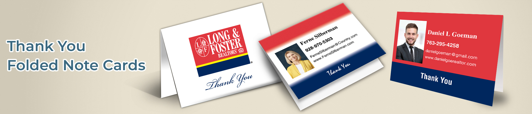 Long and Foster Real Estate Personal Promotion Folded Note Cards - Long and Foster  note card stationery | BestPrintBuy.com