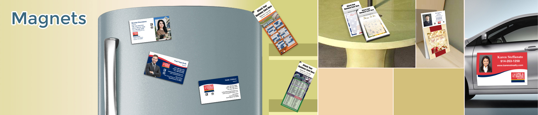 Long and Foster Real Estate Magnets - Long and Foster car magnets, sports schedules, calendar magnets | BestPrintBuy.com