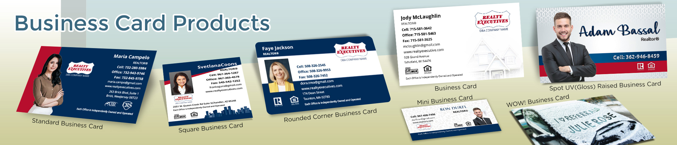 Realty Executives Real Estate Business Card Products - Realty Executives  - Unique, Custom Business Cards Printed on Quality Stock with Creative Designs for Realtors | BestPrintBuy.com