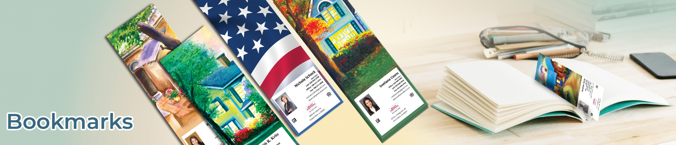Realty Executives Real Estate Bookmarks - Realty Executives  custom realtor bookmarks | BestPrintBuy.com