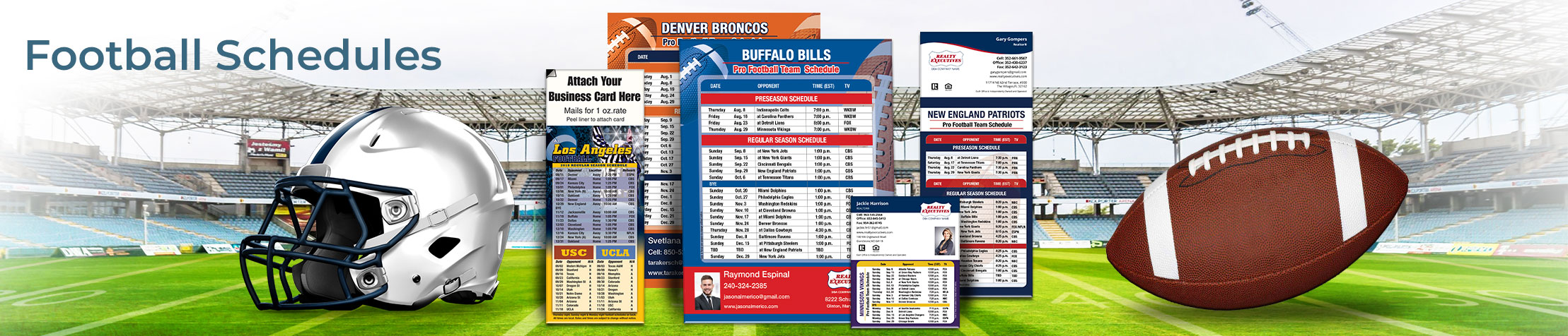 Realty Executives Real Estate Football Schedules - Realty Executives personalized football schedules | BestPrintBuy.com