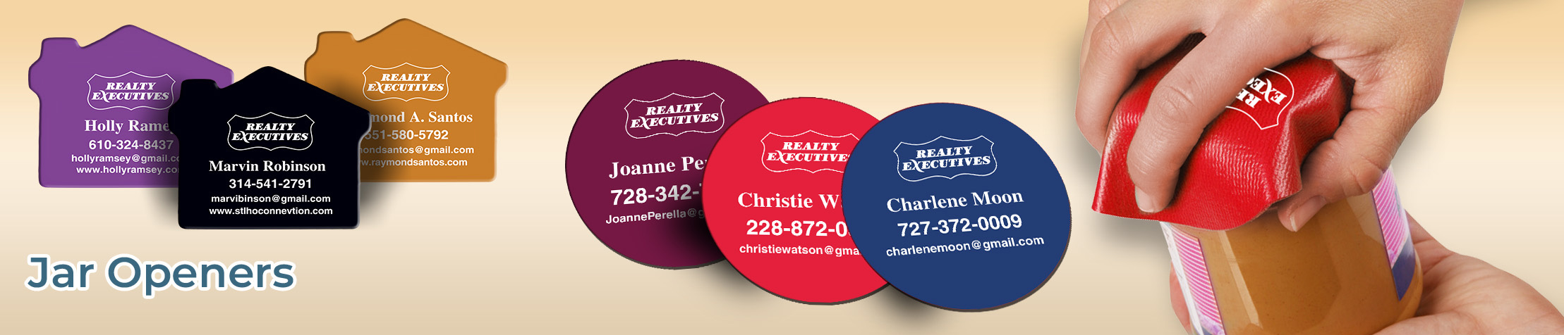 Realty Executives Real Estate Jar Openers - Realty Executives personalized realtor promotional products | BestPrintBuy.com