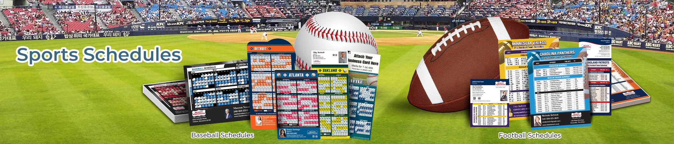 Realty Executives Real Estate Sports Schedules - Realty Executives custom sports schedule magnets | BestPrintBuy.com