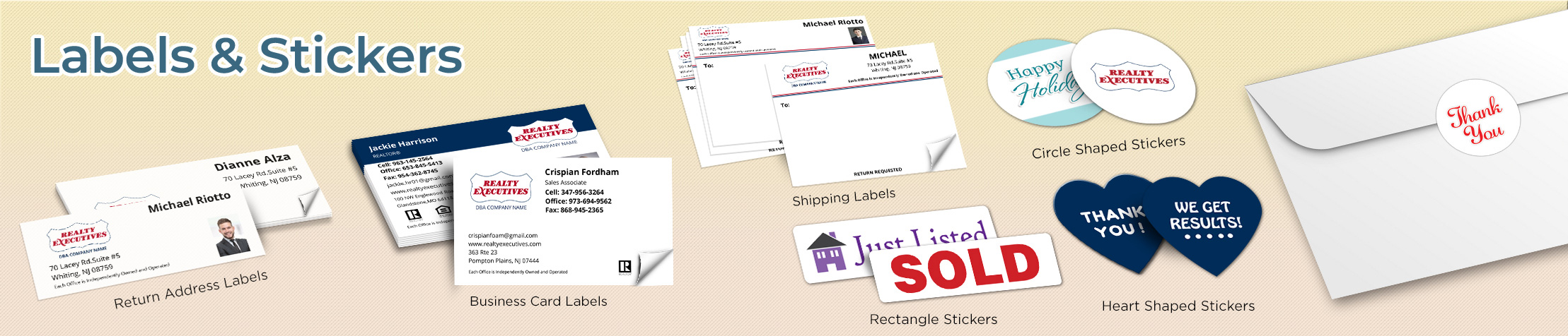Realty Executives Real Estate Labels and Stickers - Realty Executives  business card labels, return address labels, shipping labels, and assorted stickers | BestPrintBuy.com