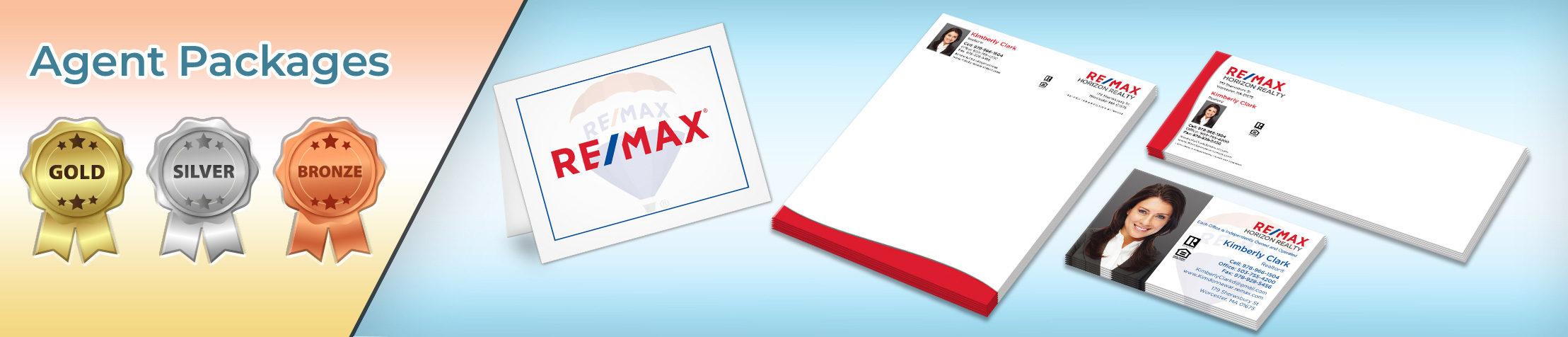 RE/MAX Real Estate Gold, Silver and Bronze Agent Packages - RE/MAX personalized business cards, letterhead, envelopes and note cards | BestPrintBuy.com