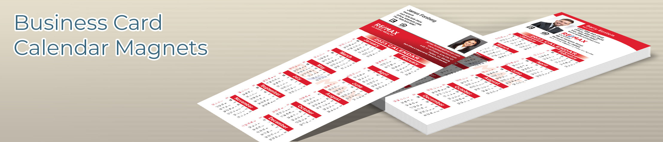 RE/MAX Real Estate Business Card Calendar Magnets - RE/MAX  2019 calendars with photo and contact info | BestPrintBuy.com