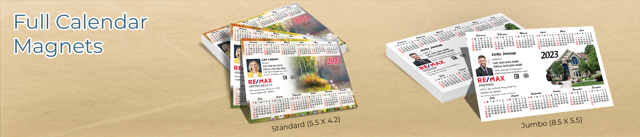 RE/MAX Real Estate Full Calendar Magnets - RE/MAX 2019 calendars in Standard or Jumbo Size | BestPrintBuy.com